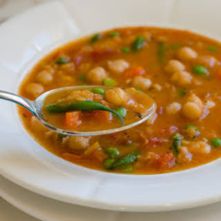 Smoky Chickpea, Red Lentil & Vegetable Soup.
