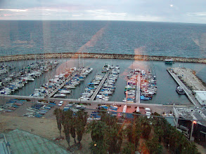 Photo: A view of the marina through the hotel window