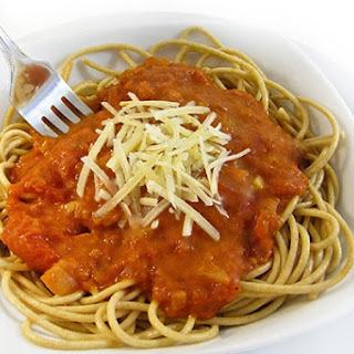 Skinny Spaghetti with a Fabulous Homemade Marinara Sauce