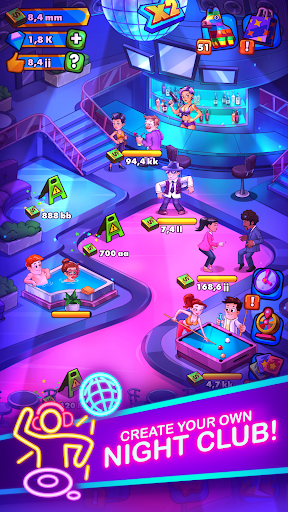 Party Clicker — Idle Nightclub Game apktreat screenshots 1