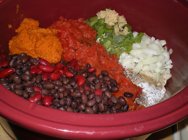 Toss the turkey in the crock pot and add in the bell pepper, onion,...