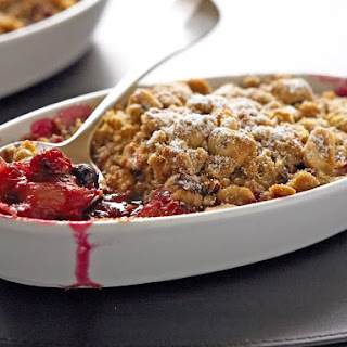Rhubarb and Berry Crumbles