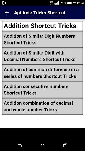Aptitude Tricks Shortcut Guide - Become Expert 1.0 screenshots 2