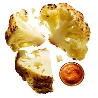 Whole Roasted Cauliflower With Romesco