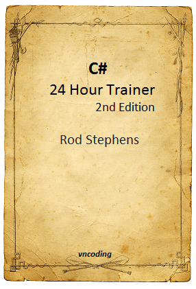 C-sharp 24 Hour Trainer 2nd Edition Book