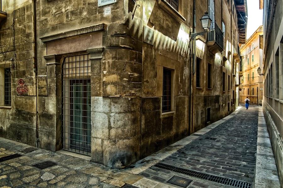 Palma Back street 1 by Paul Holmes - City,  Street & Park  Street Scenes