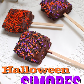 Chocolate Dipped S'mores on a Stick