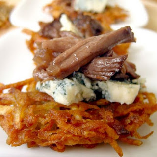 Braised Beef Short Rib w/ Gorgonzola & Potato Cake