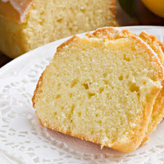 Lemon Pound Cake Recipe - Sandkuchen with Glaze.