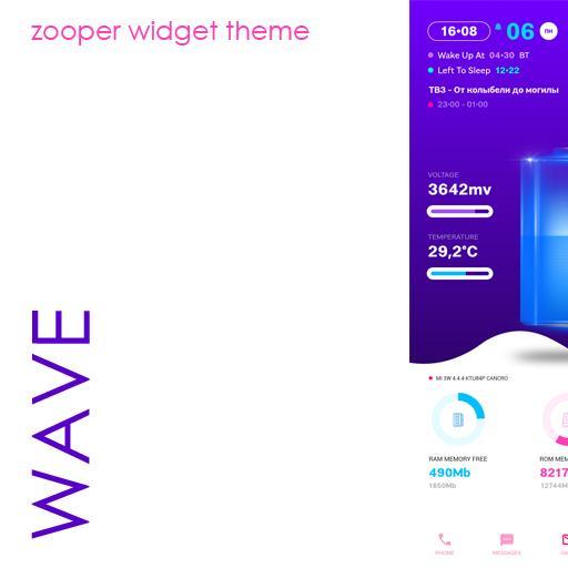 Wave Zooper Widget Theme