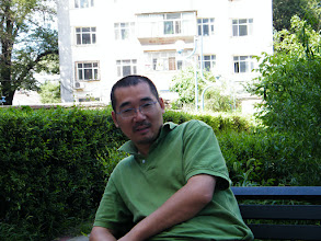 Photo: warrenzh 朱楚甲's works: dad, benzrad 朱子卓 resting in minigarden near his son's mom's house.