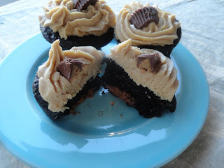 Peanut Butter Surprise Cupcakes Recipe