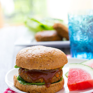 BBQ Lentil and Sweet Potato Burgers