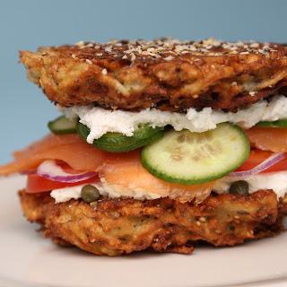 Everything Bagel Latke Sandwich.