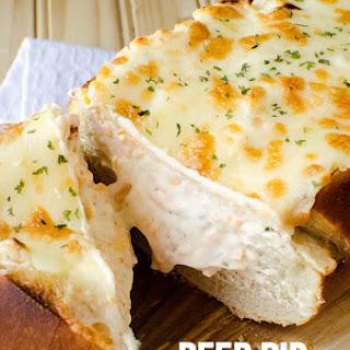 Beer Dip Stuffed Bread.