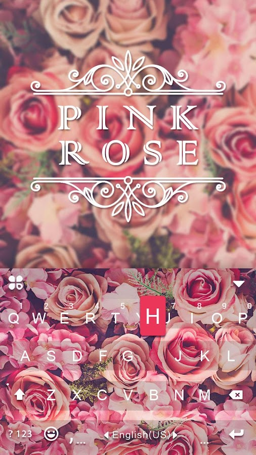 Pink rose keyboard theme android apps on google play pink rose keyboard theme screenshot ccuart Image collections
