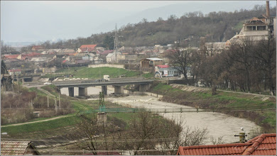 Photo: Turda - Raul Aries - Pasarela,  Podul Mare din Beton, Podul Industrial -  vedere din Cimitirul Central - 2018.04.07