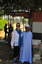 Photo: Jeanette with Egyptian that wanted his picture taken