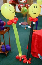 Photo: Smiley-party favor on edible treat (about 3 ft tall)