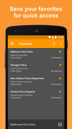 Screenshot for Scanner Radio Pro - Fire and Police Scanner in United States Play Store