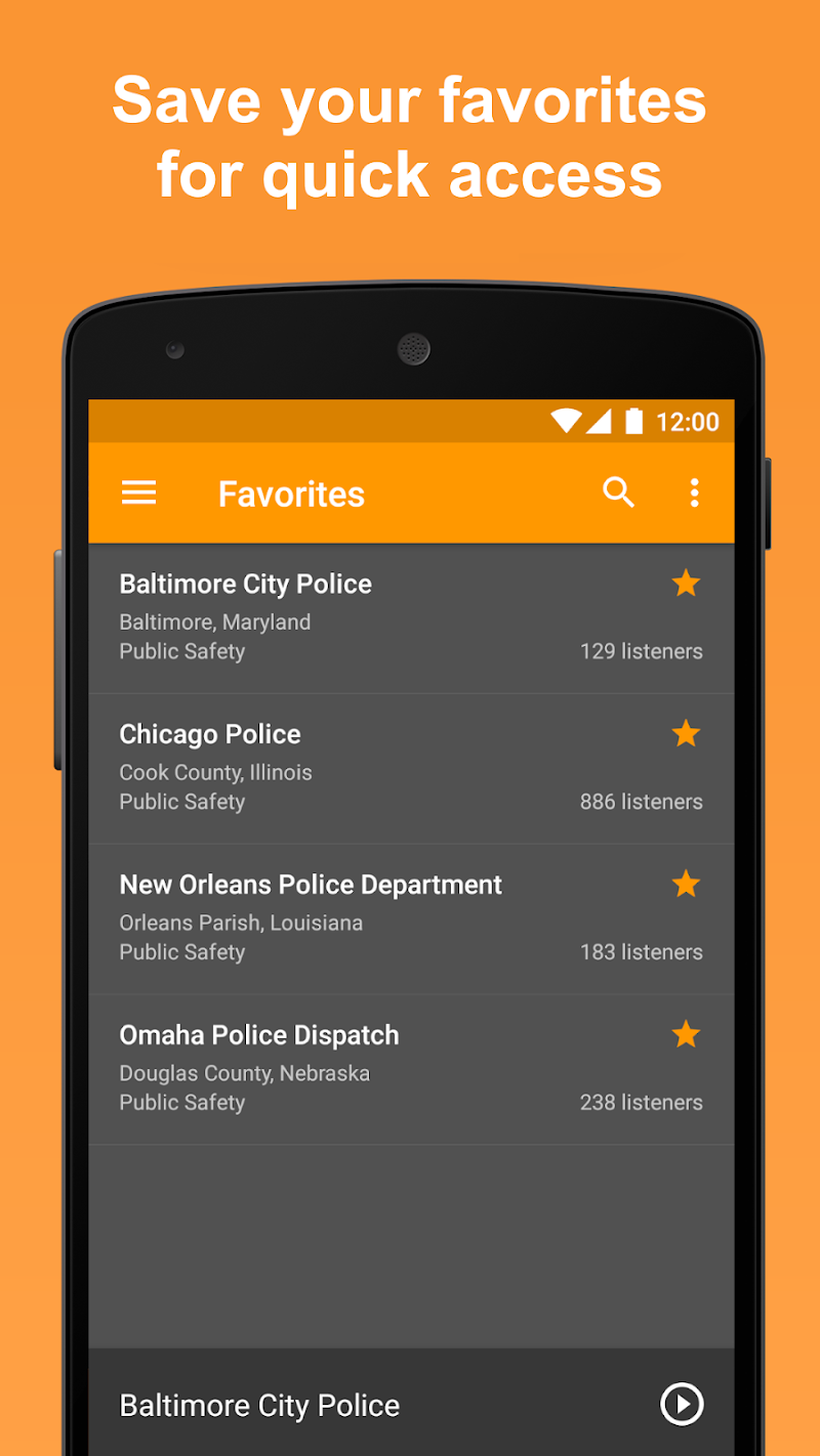 Scanner Radio Pro - Fire and Police Scanner Screenshot 4