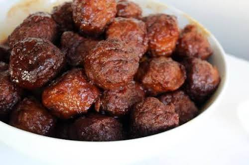 """Holiday Meatballs """"This is a quick and easy meatball recipe that will..."""
