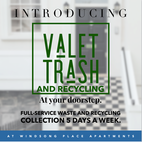 Introducing Valet Trash & Recycling at Windsong Place Apartments-image