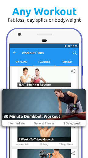 JEFIT Workout Tracker, Weight Lifting, Gym Log App for Android apk 2