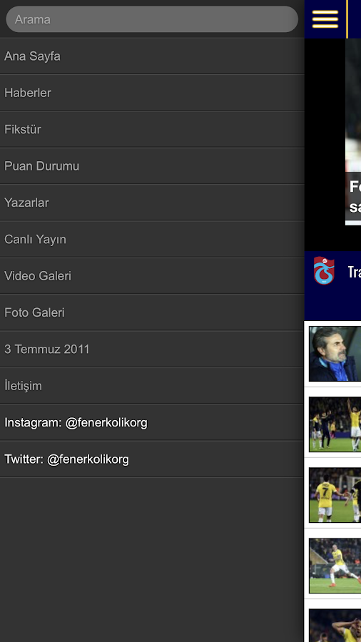 FenerKolik - Fenerbahce News- screenshot