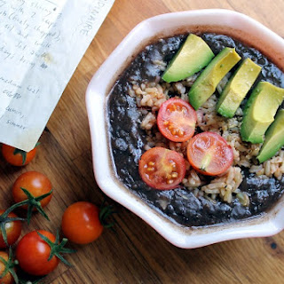 AKA Anthony's Cuban Black Bean Soup and Marinated Rice