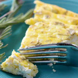 Rosemary Lavender and Goat Cheese Crustless Quiche