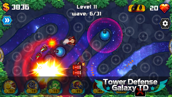 Tower Defense: Galaxy TD- screenshot thumbnail