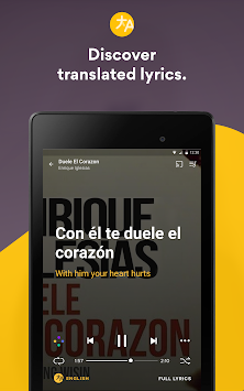 Musixmatch Music Player Letras APK screenshot thumbnail 17