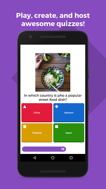 Kahoot! Android App Screenshot