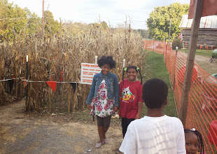 Photo: getting ready to go in the corn maze