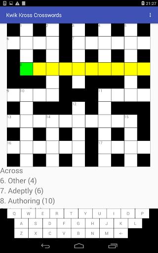 Kwik Kross Crosswords 1.0 screenshots 8