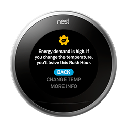 thermostat rush hour adjust