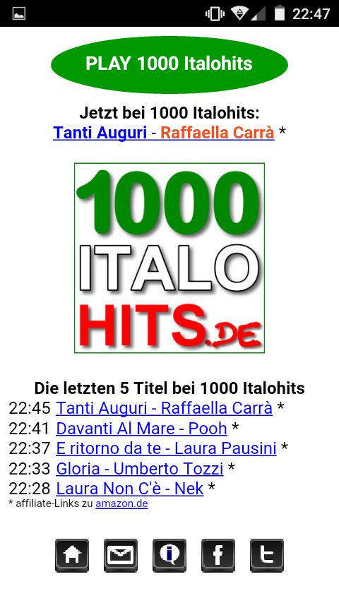 1000 Italohits Player- screenshot