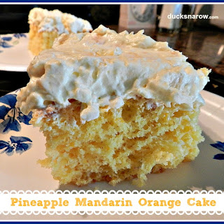 Pineapple Mandarin Orange Cake.