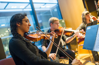 Photo: Monash Medical Orchestra's chamber quartet.