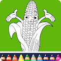 Fruits Coloring Book For Kids icon