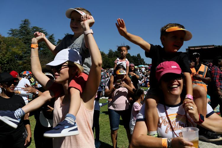 Revelers and music lovers, attended the Huawei Joburg Day in the Park, at The Johannesburg Botanical Gardens, Emmarentia.