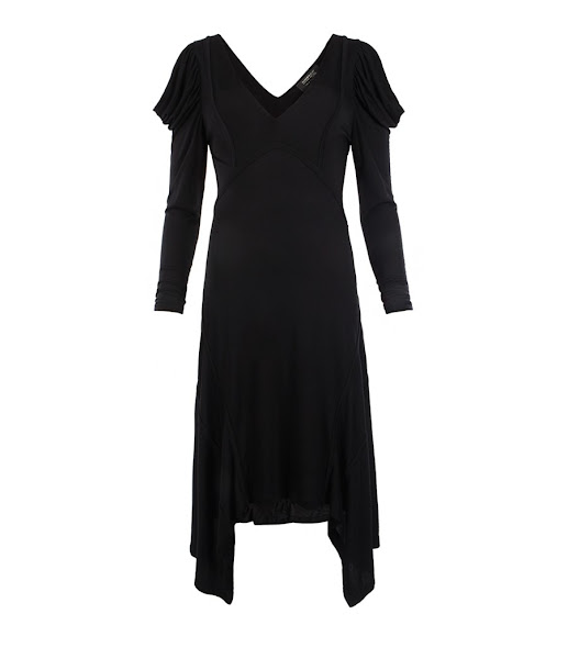Photo: Faith Dress>>  UK>http://bit.ly/M1NnAI US>http://bit.ly/LWkBLr  Victorian inspired dress made from a beautiful, black draped jersey with flattering, contouring external French seams. The Faith dress features dramatic sleeves that have been achieved by pattern cutting and draping on the stand.