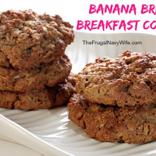 Banana Bread Breakfast Cookies.