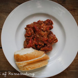 Italian Pork & Pepper Stew ~ Crock Pot Style