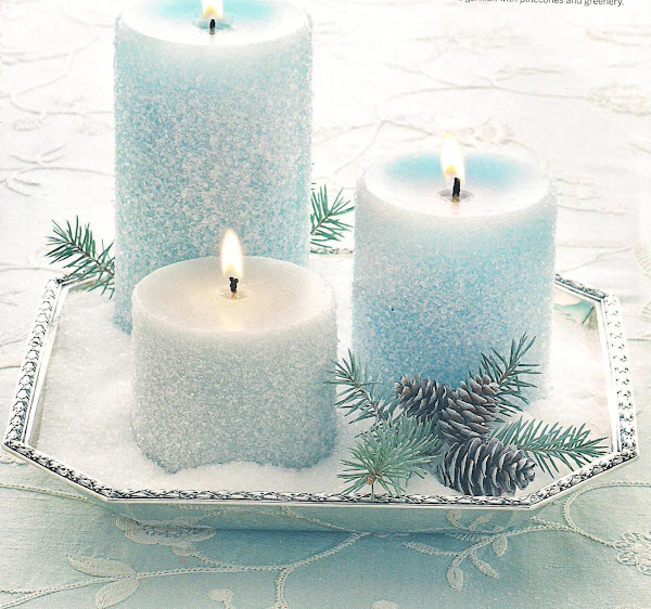 Frost Covered Candles, Crafts Recipe