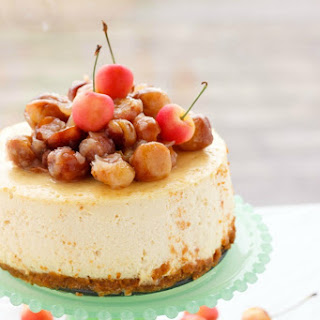 Maple Cheesecake with Rainier Cherries