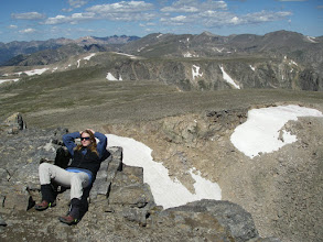 Photo: Chillin' on the summit.