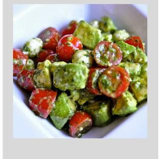 Mozzarella, Tomato and Avocado Salad.