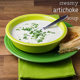 Creamy Artichoke Soup with Gruyere